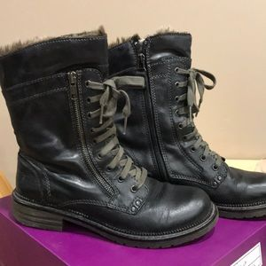 Military Winter leather boots